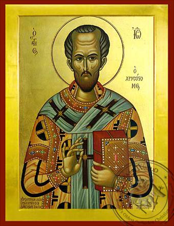 Saint John the Chrysostom Patriarch of Constantinople - Byzantine Icon