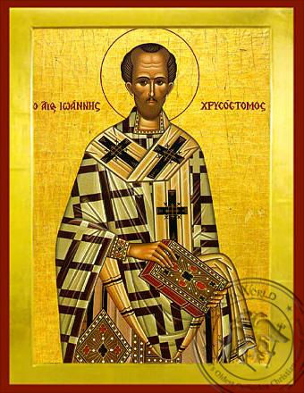 Saint John Chrysostom - Byzantine Icon