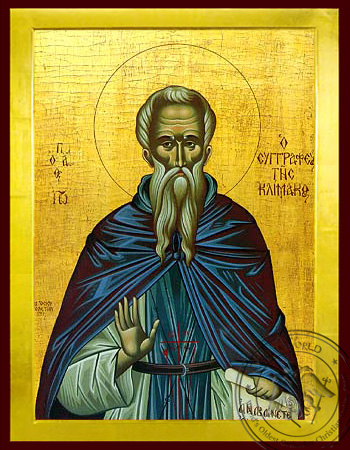 Saint John (Climacus) of Sinai, Author of the Ladder - Byzantine Icon
