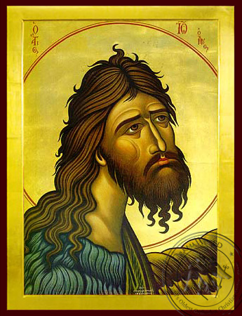 Saint John the Forerunner, Bust - Byzantine Icon