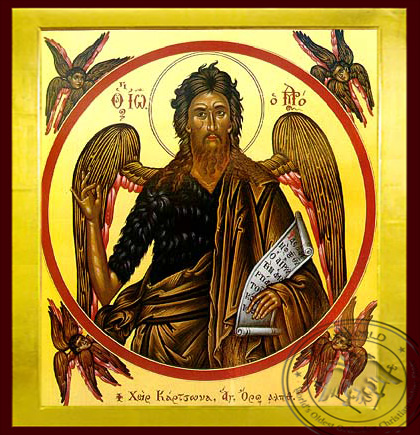 Saint John the Forerunner - Byzantine Icon
