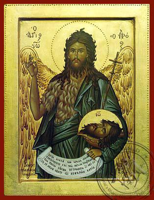 Saint John the Forerunner - Byzantine Icon