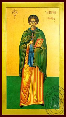 Saint John the Kalabytes (Hut-Dweller), Full Body - Byzantine Icon