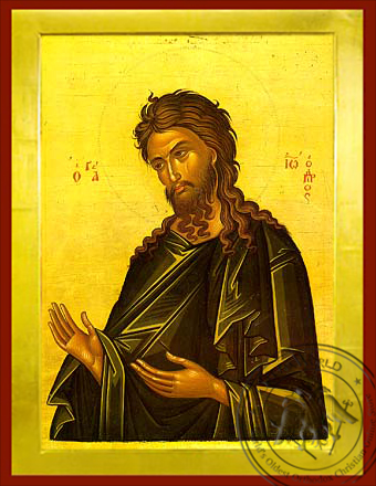 Saint John the Forerunner, Supplicating - Byzantine Icon