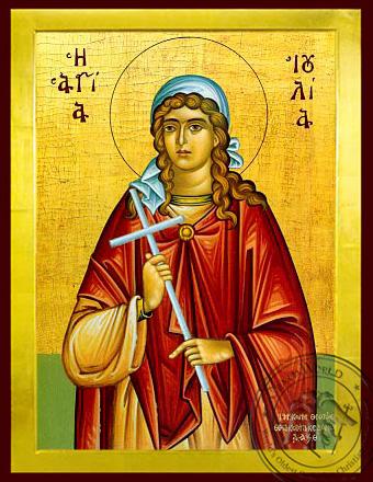Saint Julia - Byzantine Icon