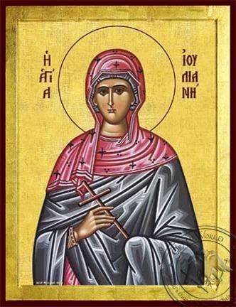 Saint Juliana of Nicomedia Martyr - Byzantine Icon