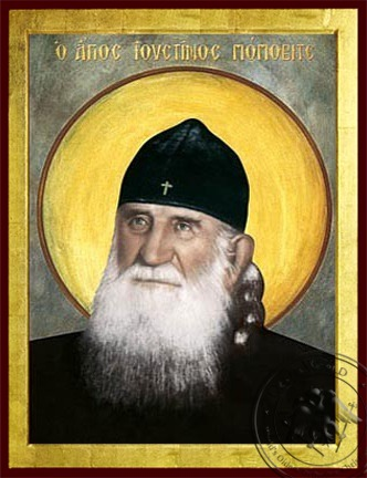 Saint Justin Popovich - Byzantine Icon