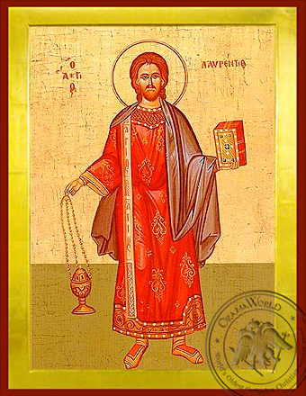 Saint Laurence the Deacon - Byzantine Icon