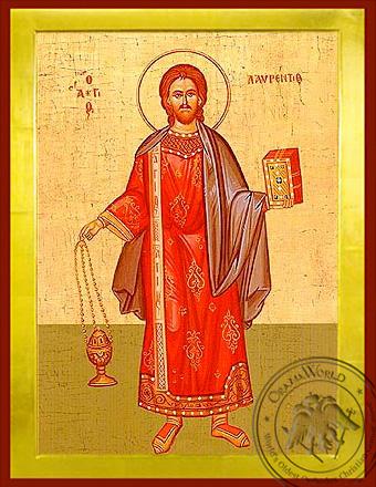 Saint Lawrence the Deacon - Byzantine Icon