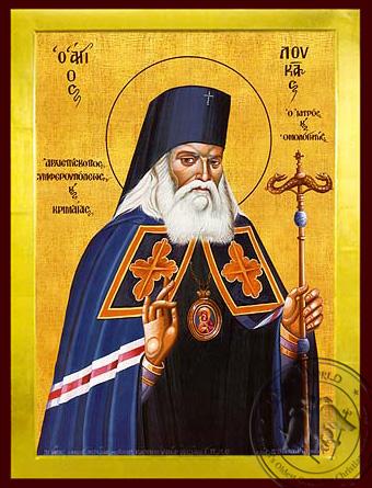 Saint Luke, Archbishop-Surgeon of Simferopol, Crimaea - Byzantine Icon