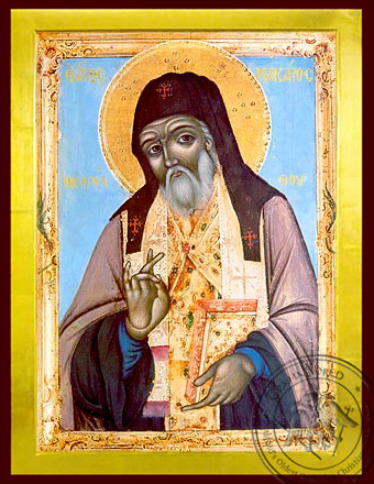 Saint Macarius Notaras, Bishop of Corinth, Greece - Byzantine Icon