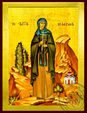 Saint Macrina, Sister of Saint Basil the Great, Full Body - Byzantine Icon
