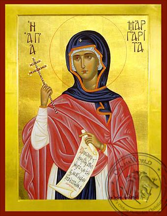 Saint Margaret - Byzantine Icon