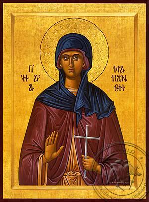 Saint Marianthe, Martyr - Byzantine Icon