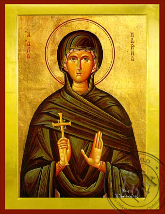Saint Marina, the Great Martyr, of Antioch - Byzantine Icon