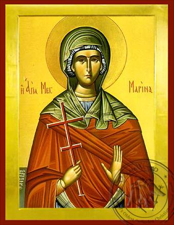 Saint Marina - Byzantine Icon