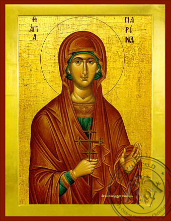 Saint Marina, the Great Martyr, of Antioch - Byzantine Icon