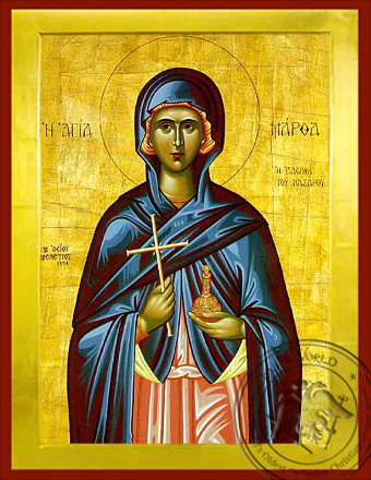 Saint Martha Sister of Lazarus - Byzantine Icon