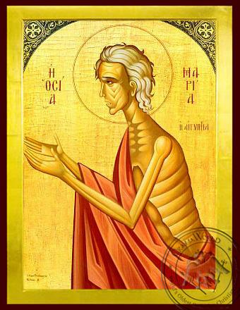 Saint Mary of Egypt - Byzantine Icon