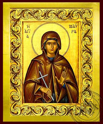 Saint Maura, Martyr - Byzantine Icon