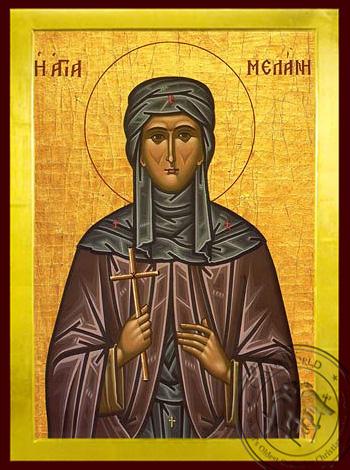 Saint Melania the Younger, Nun, of Rome - Byzantine Icon