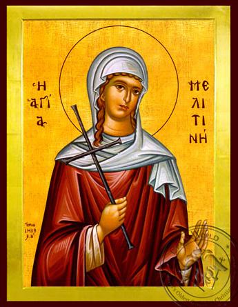 Saint Melitina of Marcianopolis, Martyr - Byzantine Icon