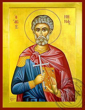 Saint Menas, the Great Martyr, of Egypt - Byzantine Icon