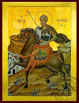 Saint Menas, the Great Martyr, of Egypt, on Horseback - Byzantine Icon