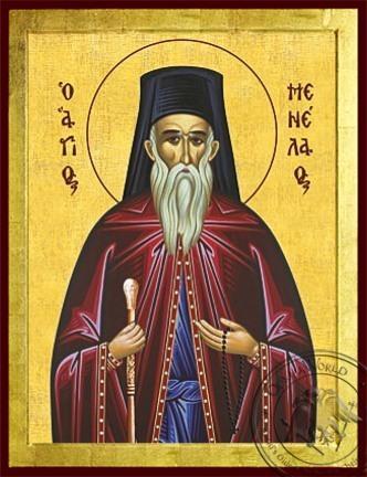Saint Menelaos - Byzantine Icon