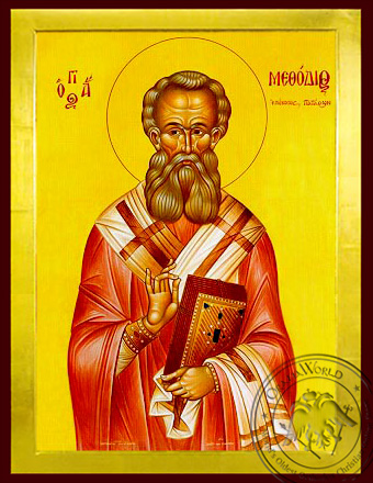 Saint Methodius, Hieromartyr, Bishop of Patara - Byzantine Icon