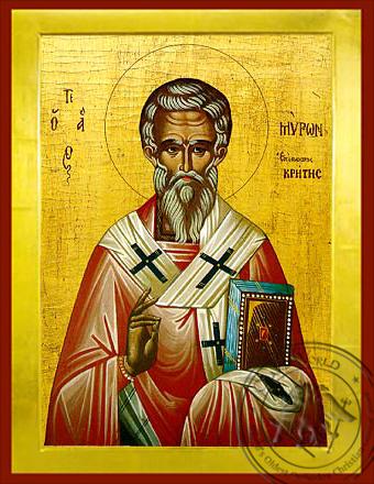 Saint Myron of Crete - Byzantine Icon