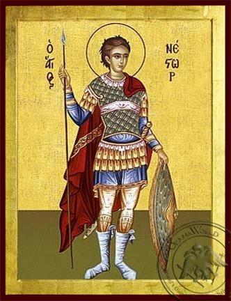 Saint Nestor Full Body - Byzantine Icon