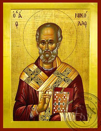 Saint Nicholas, Archbishop of Myra in Lycia - Byzantine Icon