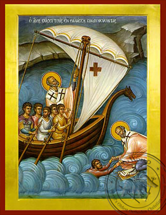 Saint Nicholas, Help of Mariners - Byzantine Icon
