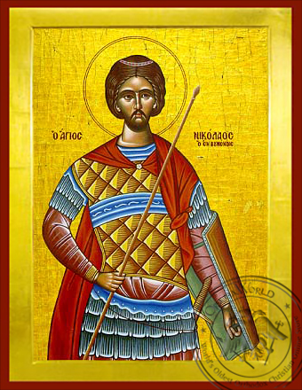 Saint Nicholas the New Martyr of Vounena, Greece - Byzantine Icon