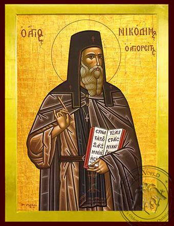Saint Nicodemus of Mount Athos, Spiritual Writer - Byzantine Icon