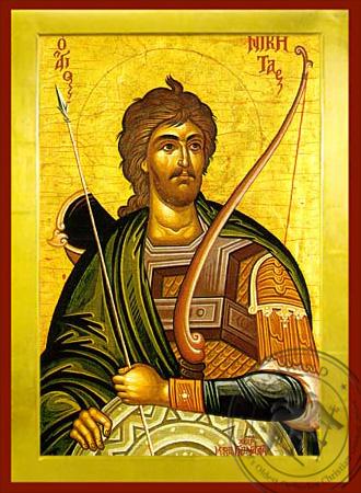 Saint Nikitas - Byzantine Icon