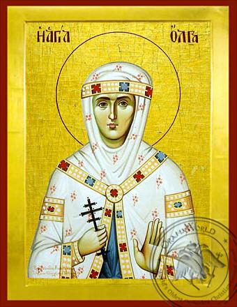 Saint Olga - Byzantine Icon