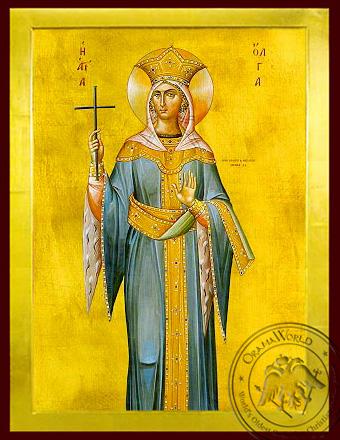 Saint Olga, Princess of Russia - Byzantine Icon