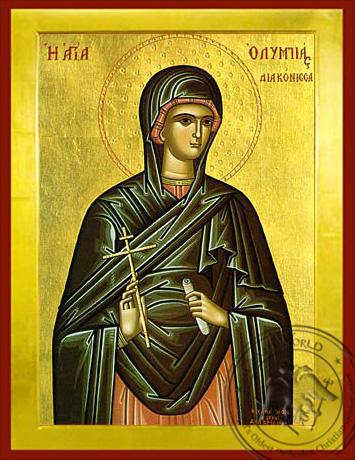 Saint Olympias - Byzantine Icon