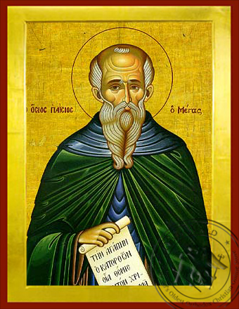 Saint Paisios the Great - Byzantine Icon