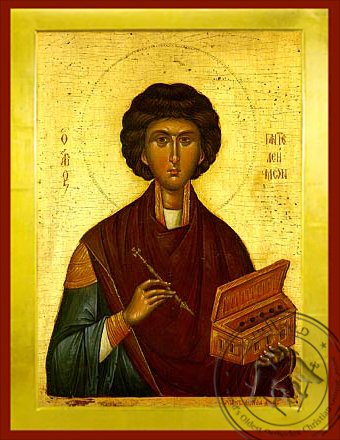 Saint Panteleimon, the Great Martyr - Byzantine Icon
