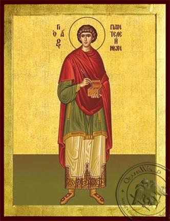 Saint Panteleimon the Great Martyr Full Body - Byzantine Icon