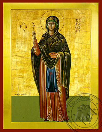 Saint Parasceve, the Great Martyr, of Rome, Full Body - Byzantine Icon