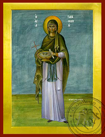 Saint Parasceve, the Great Martyr,of Rome, Full Body - Byzantine Icon