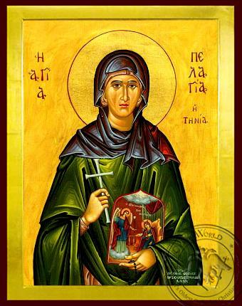 Saint Pelagia Of Tinos - Byzantine Icon