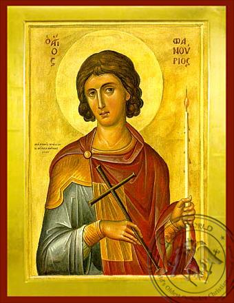 Saint Phanourios - Byzantine Icon