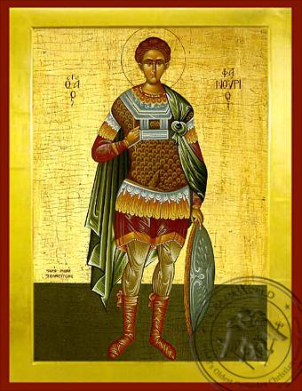 Saint Phanurius, the Great Martyr, Full Body - Byzantine Icon