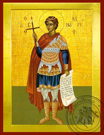 Saint Phanurius, the Great Martyr, Full Body - Byzantine Icon