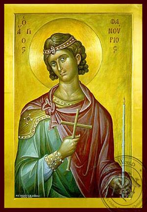 Saint Phanurius, the Great Martyr - Byzantine Icon